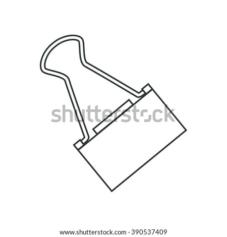 contour objects stationery, stationery clip - stock vector