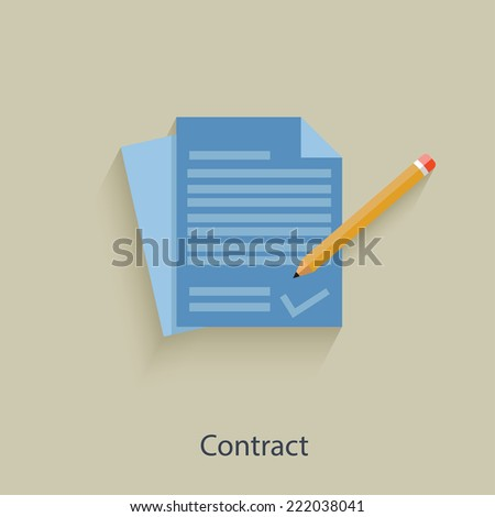 Contract concept design,clean vector - stock vector