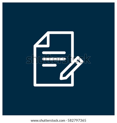 Contract Vector Icon Business Agreement Symbol Stock Vector