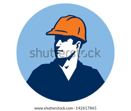 Contractor Guy - stock vector