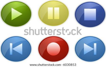 control buttons - stock vector