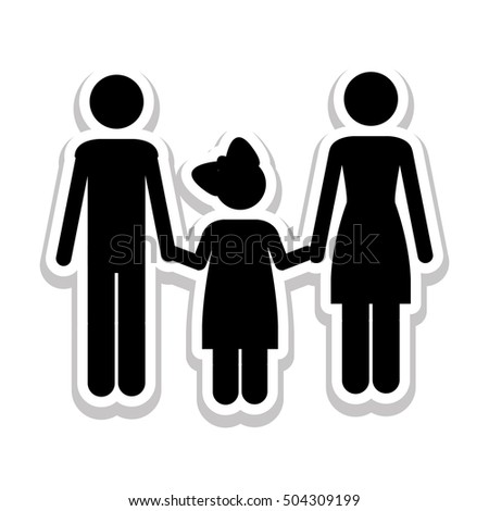 conventional family pictogram icon image