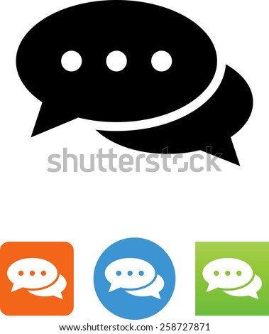 Conversation bubbles symbol for download. Vector icons for video, mobile apps, Web sites and print projects.  - stock vector