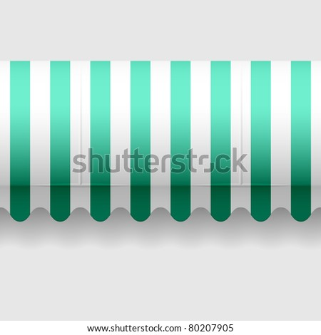 Convex awning. Seamless vector. - stock vector