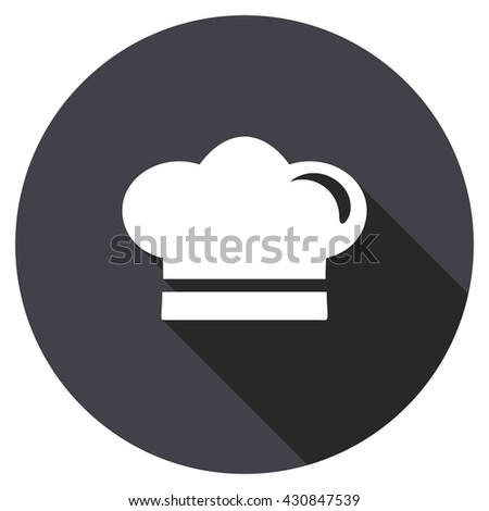 cook vector icon, circle flat design internet button, web and mobile app illustration