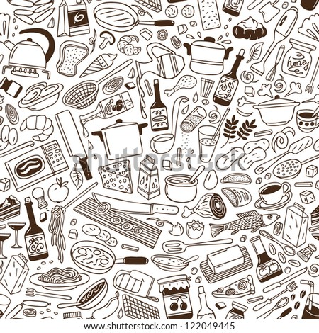 Cookery - seamless pattern
