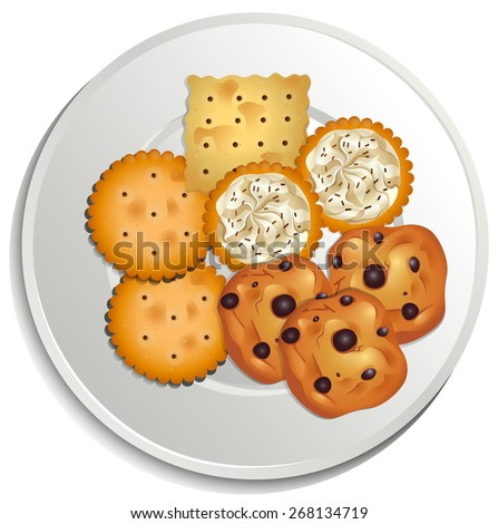Cookies on a white plate