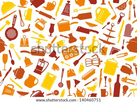 Cooking background - stock vector