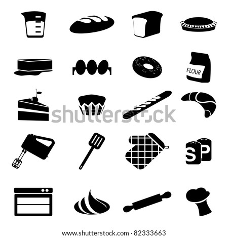 Cooking Equipment , Cakes And Pastries - stock vector