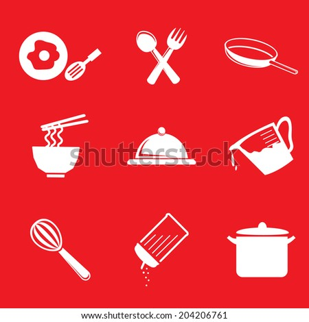 Cooking Icons- Vector - stock vector