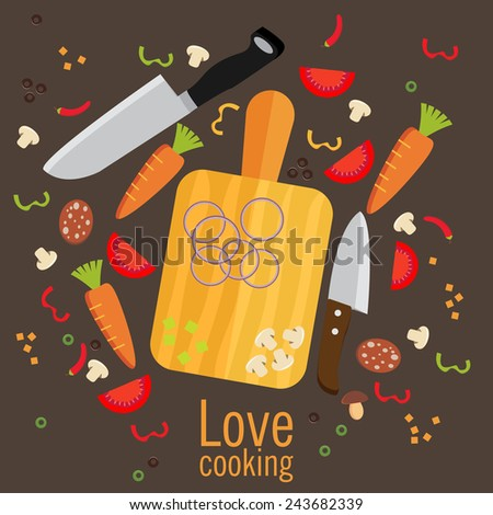 Cooking poster design. Vector illustration - stock vector