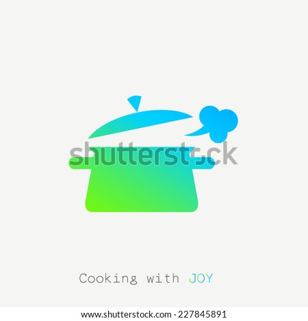 cooking pot icon. vector illustration - stock vector
