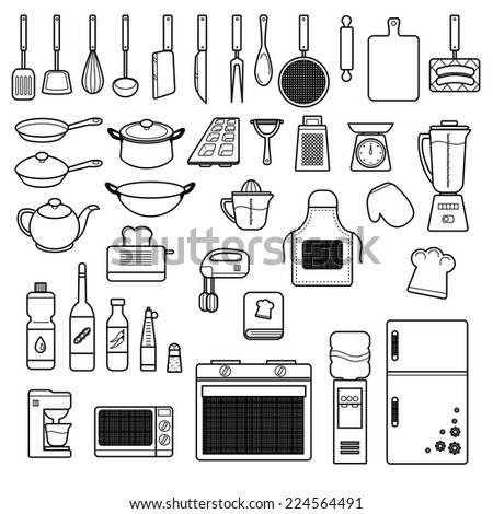 Cooking Set - stock vector