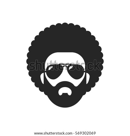 afro hairstyles vector curly hair man stock images royalty