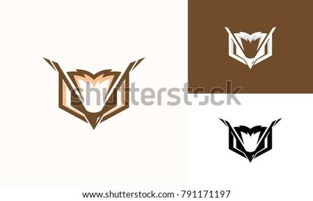 Line Art Vector Design : Cool elegant owl logo designs line stock vector