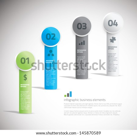 Cool business infographic elements vector - stock vector
