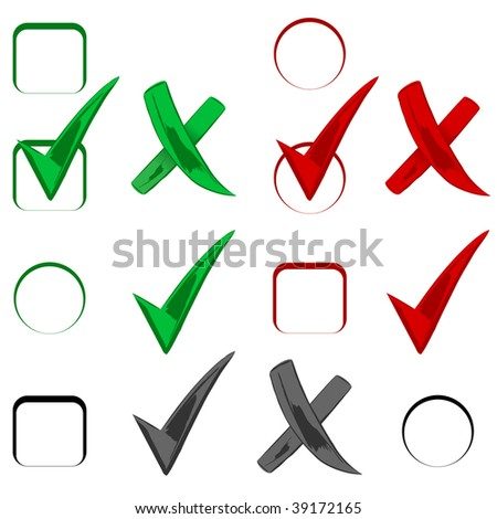 Cool Check signs, vector - stock vector