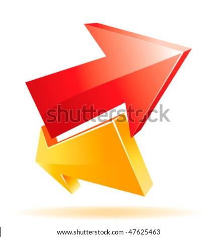 Cool 3d vector arrows for your business artwork - stock vector