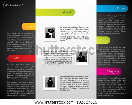 Cool design website template with dark and light elements - stock vector