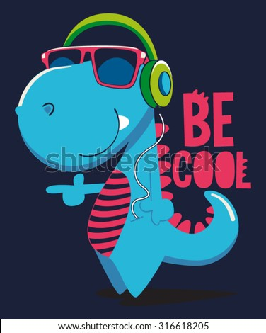 cool dinosaur character design - stock vector