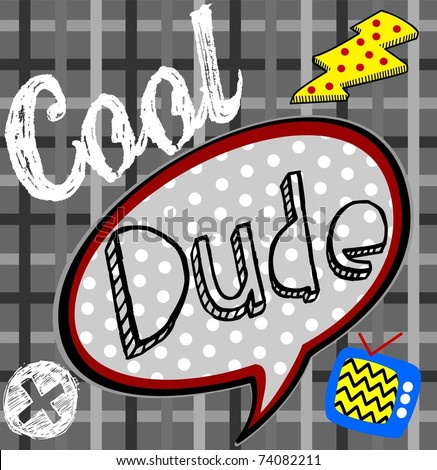 cool dude text