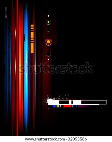 Cool futuristic background for your creative design - stock vector
