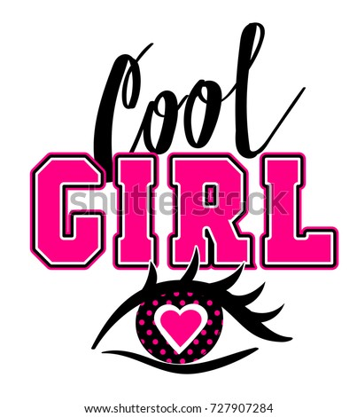 Cool Girl T Shirt Design Decorative Stock Vector HD (Royalty Free ...