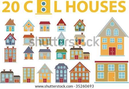 cool houses. vector - stock vector