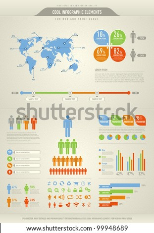 cool infographic elements for the web and print usage - stock vector