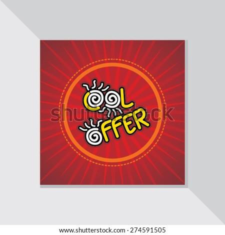 cool offer design template vector illustration - stock vector