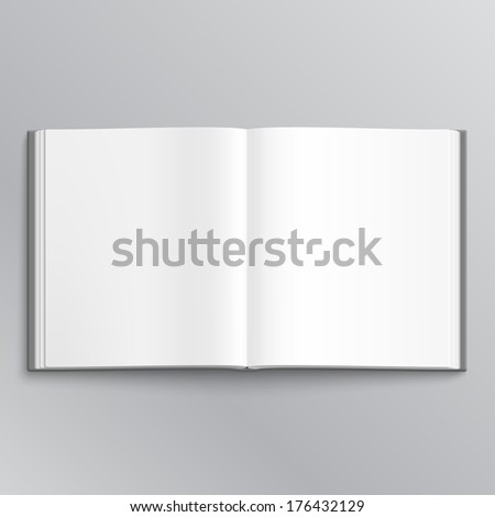 Cool Open book with white pages - stock vector
