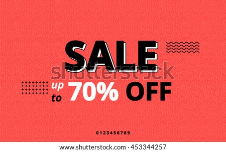 Cool Sale Fashion Template Retail Advertising Stock Vector ...