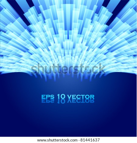 Cool shiny background - stock vector