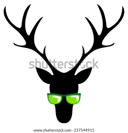 cool stag - stock vector