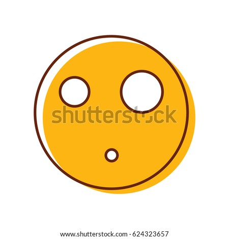 Cool Surprised Emoticon Vector Smiley Emoji Stock Vector 624323657