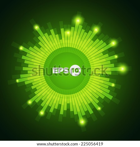 Cool vector equalizer background for club, radio, party, concerts or the audio technology advertising background. - stock vector