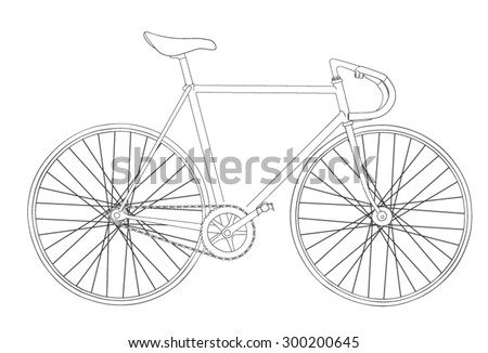 Cool vinatage bicycle illustration  - stock vector