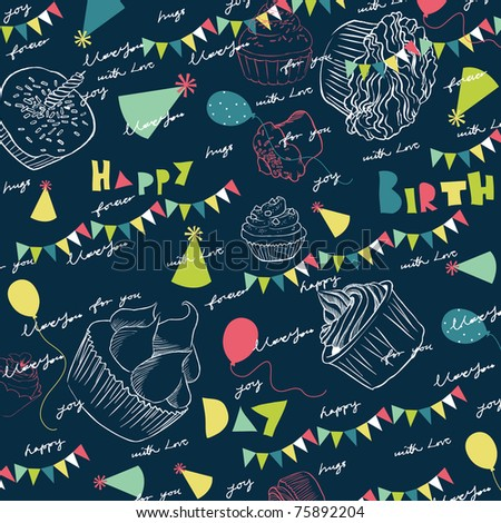 cool warping paper for party use - stock vector