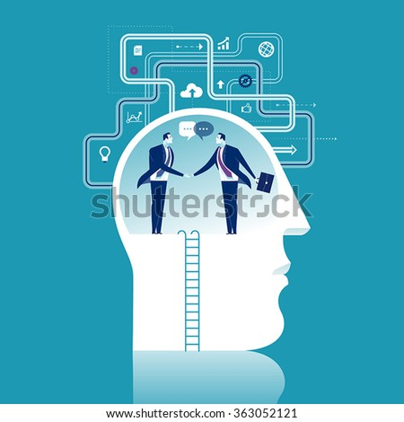 Cooperation. Business illustration - stock vector