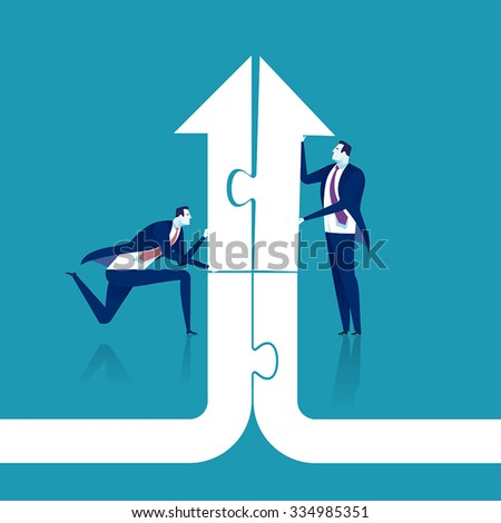 Cooperation. Concept business illustration - stock vector