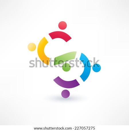 Cooperation icon. Logo design.