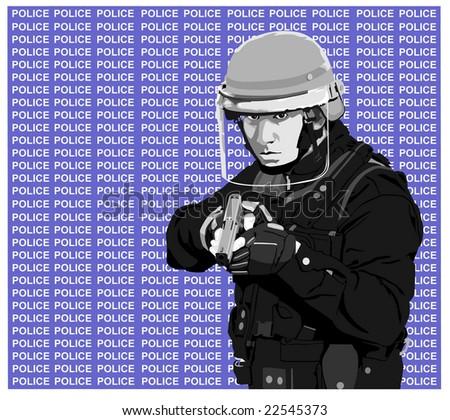 cop-police - stock vector