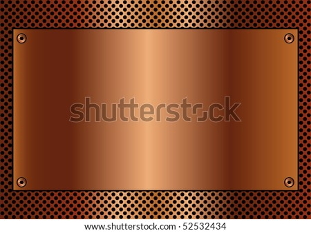 Copper toned metallic background