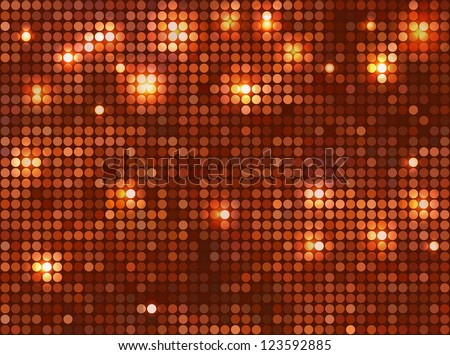 copper  vector background  horizontal mosaic with light spots - stock vector