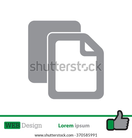 Copy file icon. Duplicate document symbol