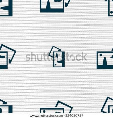 Copy File JPG sign icon. Download image file symbol. Seamless abstract background with geometric shapes. Vector illustration - stock vector