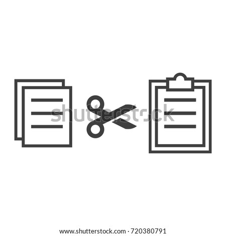 Copy Paste Cut Icon Vector Set Stock Vector 720380791 Shutterstock