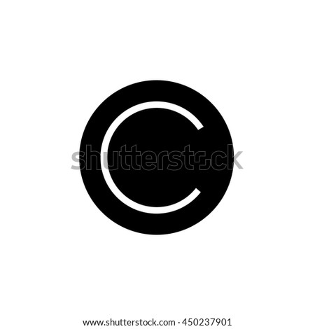 copyright C - stock vector