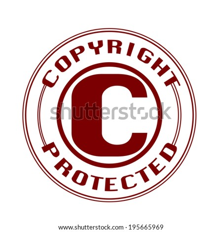 copyright protected grunge stamp with on vector illustration