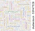 COPYRIGHT. Seamless vector background. Wordcloud illustration. - stock photo